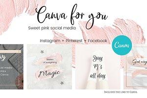 CFY - Sweet pink Social media