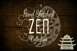 Hand Sketched ZEN Vectors & Template