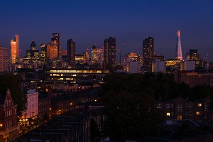 The City of London skyline, England