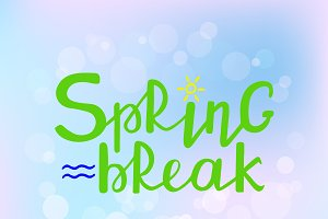Spring Break hand drawn text