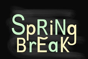 Spring Break lettering composition