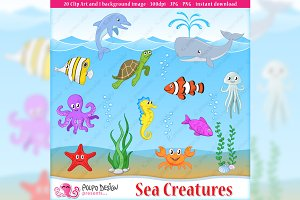 Sea Creatures clip art