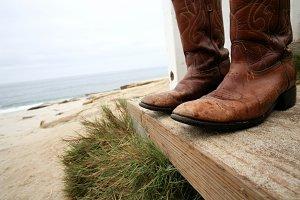 Cowboy at the Beach