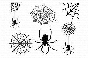 Spiders and Spider Web SVG files