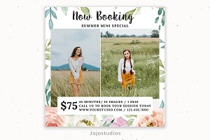 Summer Mini Session Template Design