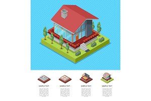 House engineering and development isometric poster