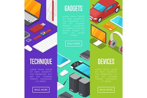Modern gadgets and computer devices set