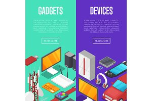 Gadgets and computer devices set
