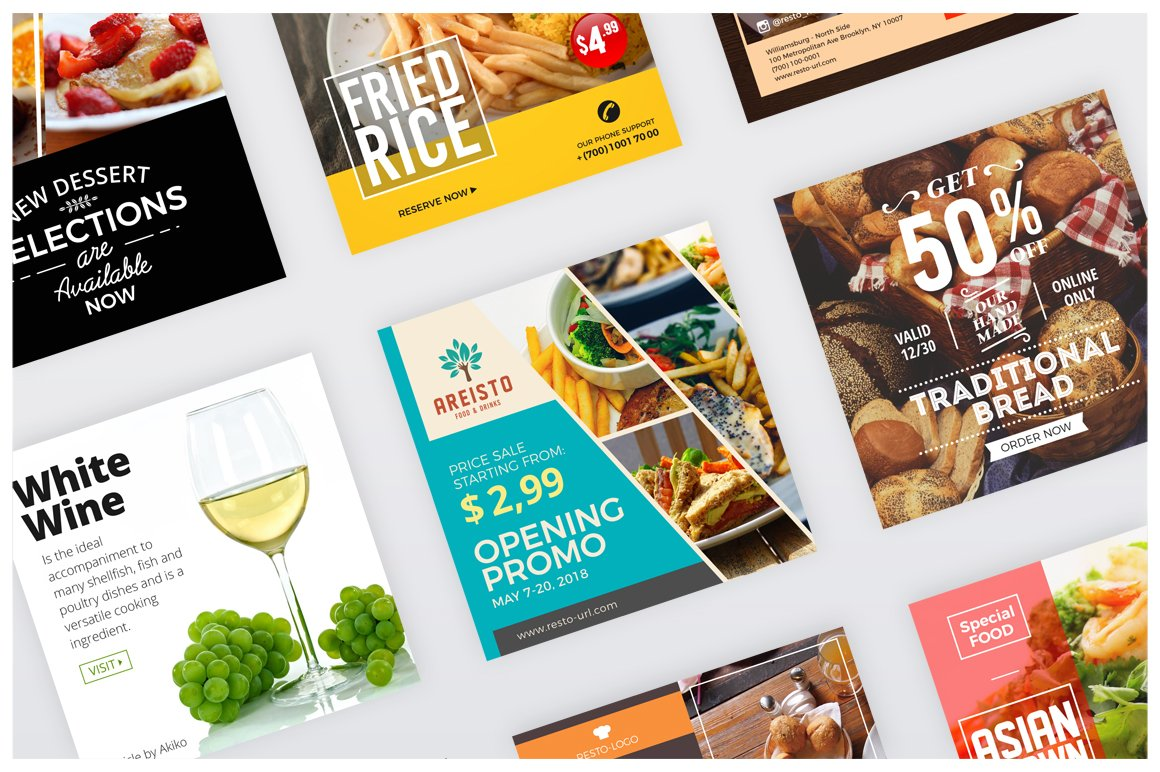 48 Instagram Food Banners   SAVE 15%
