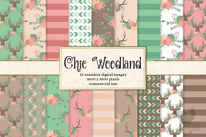 Chic Woodland Digital Paper