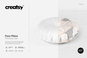 Floor Pillow Mockup Set