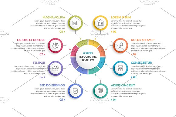 Infographic Template with 8 Steps