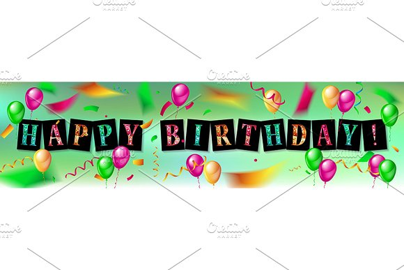 Happy Birthday design set in Graphics