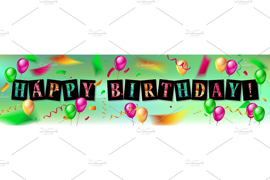 Happy Birthday design set in Graphics - product preview 8