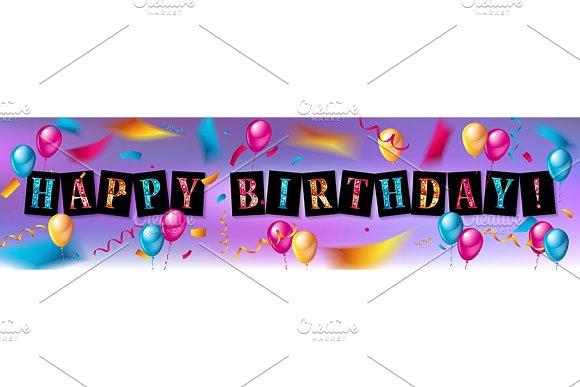 Happy Birthday design set in Graphics - product preview 1