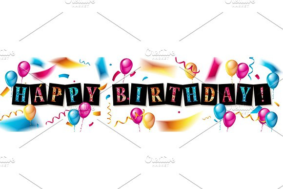 Happy Birthday design set in Graphics - product preview 2