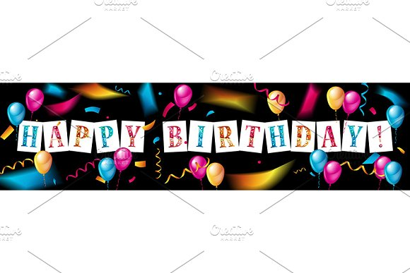Happy Birthday design set in Graphics - product preview 3