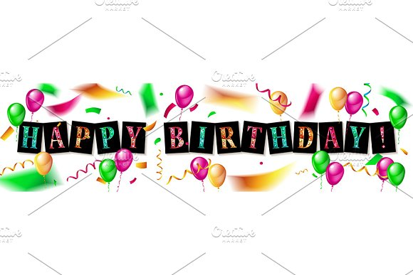 Happy Birthday design set in Graphics - product preview 4