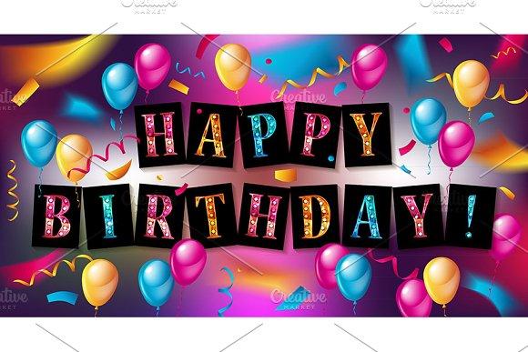 Happy Birthday Design Set