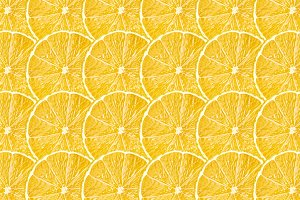 Yellow lemon fruit slices texture