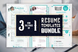 Resume Templates Bundle - BellaBlue