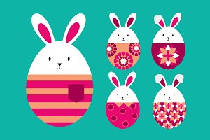 easter eggs...err bunnies vector