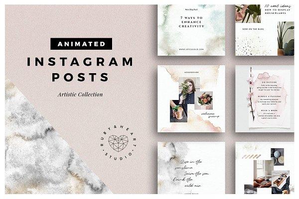 ANIMATED Artistic Instagram Posts
