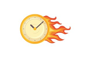 Time Management Clock Poster Vector Illustration