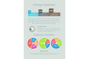 Energy Expenses Statistics Vector Illustration
