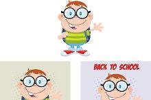 Geek Boy Flat Design Collection