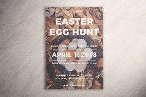 Simple Easter Egg Hunt Flyer
