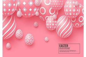 Abstract Easter pink background.