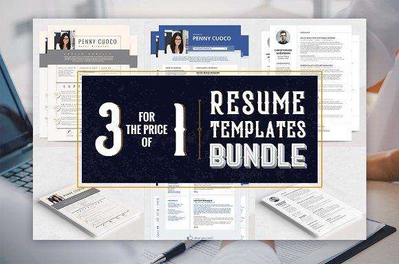 Resume Templates Bundle Sirius Soc