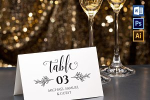 Place Card Template WPC416