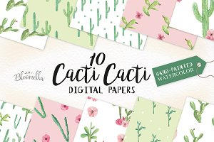Cactus Digital Papers Cacti Patterns