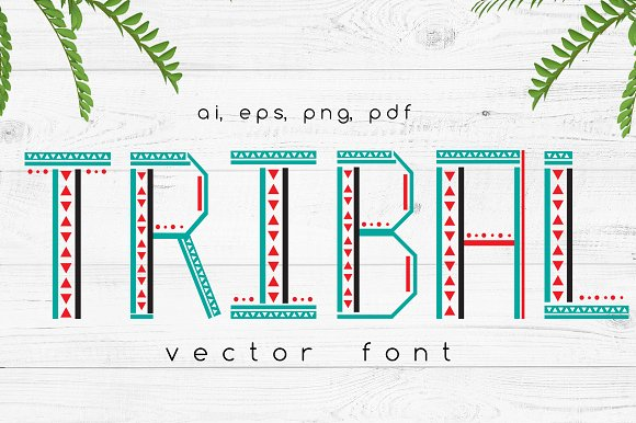 TRIBAL Vector Font