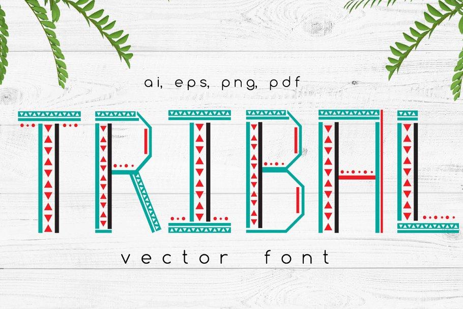 TRIBAL Vector Font
