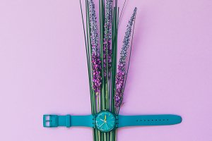 watch and lavender