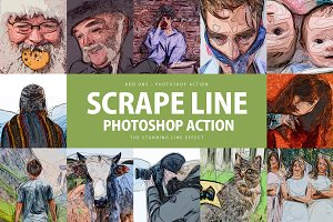 Scrape Line Photoshop Action