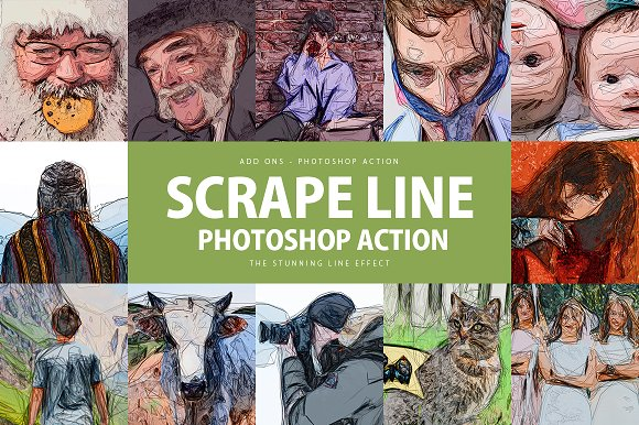 Scrape Line Photoshop Action