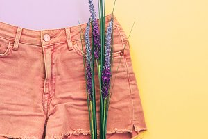shorts and lavender