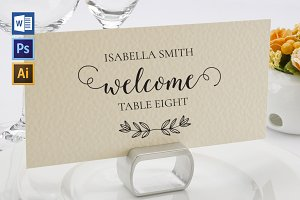 Place Card Template WPC417