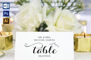 Place Card Template WPC418
