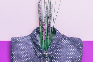 beautiful shirt and lavender