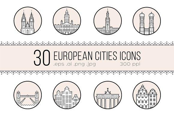 Icons Of 30 European Cities