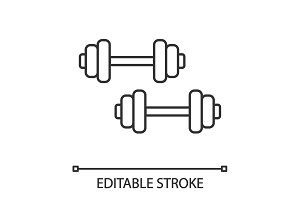 Dumbbells linear icon