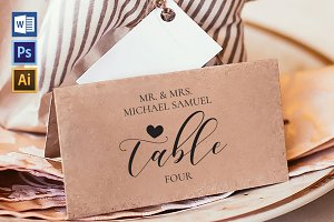 Place Card Template WPC419