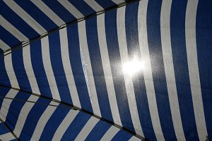 Umbrella under the sun
