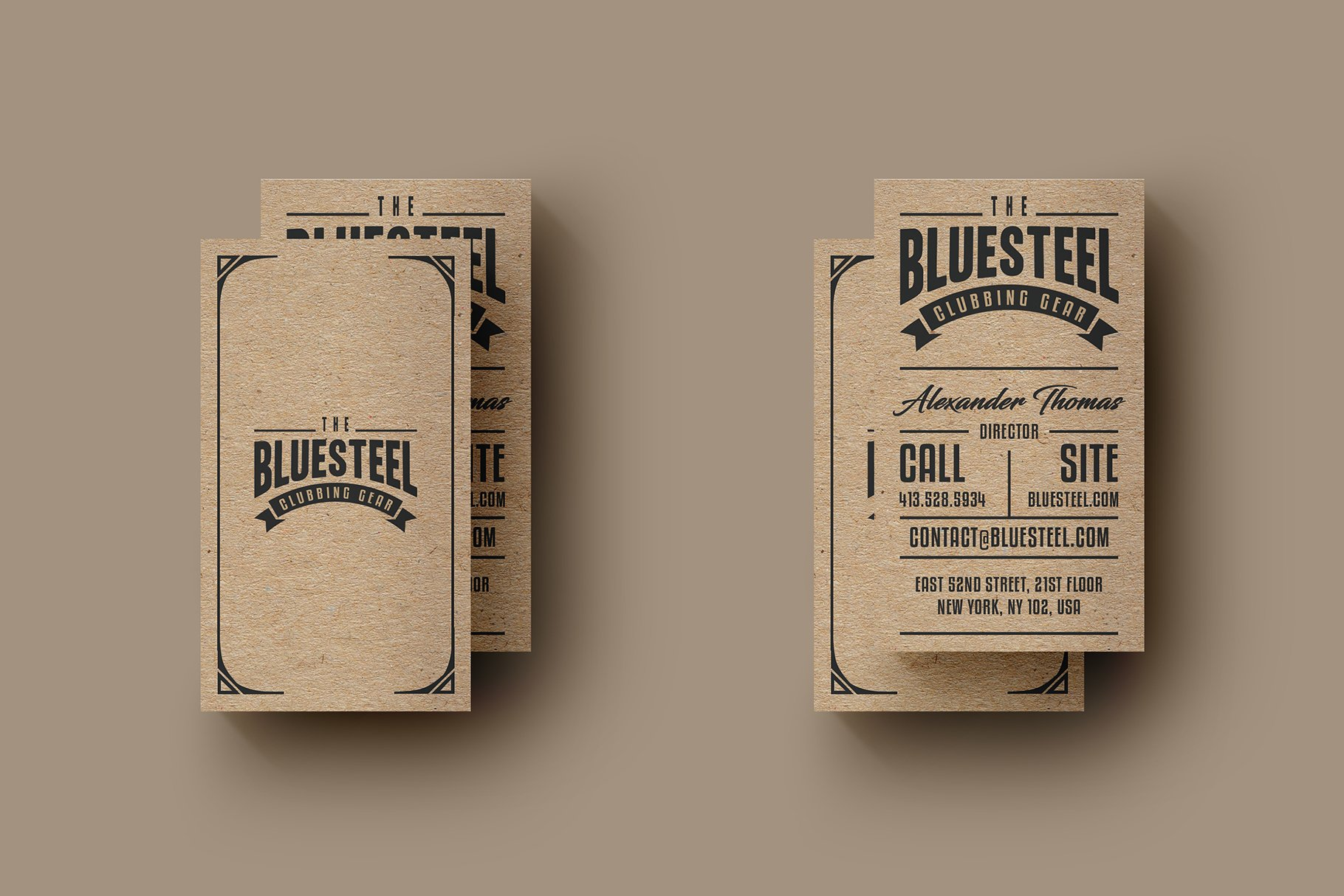 Typography Kraft Paper Business Card ~ Business Card Templates ...