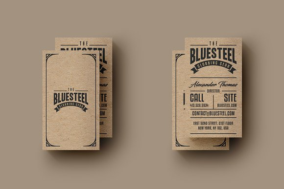 typography kraft paper business card business cards - Kraft Paper Business Cards